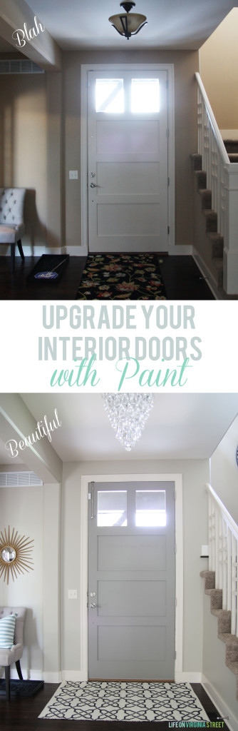Upgrade Your Interior Doors with Paint - Gorgeous Gray Painted Doors!