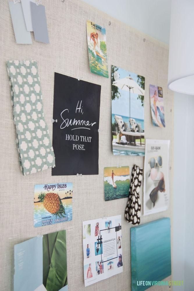 craft room inspiration board smaller