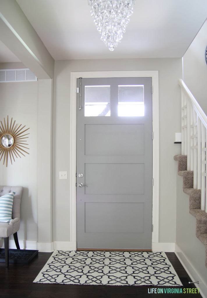 Gray painted doors simple chic design life on virginia Shades of grey interior paint