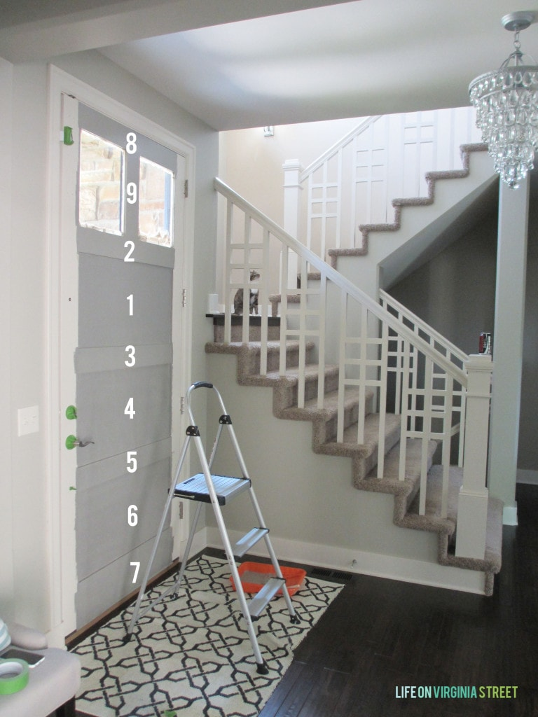 Great tips for how to paint the interior of your front door