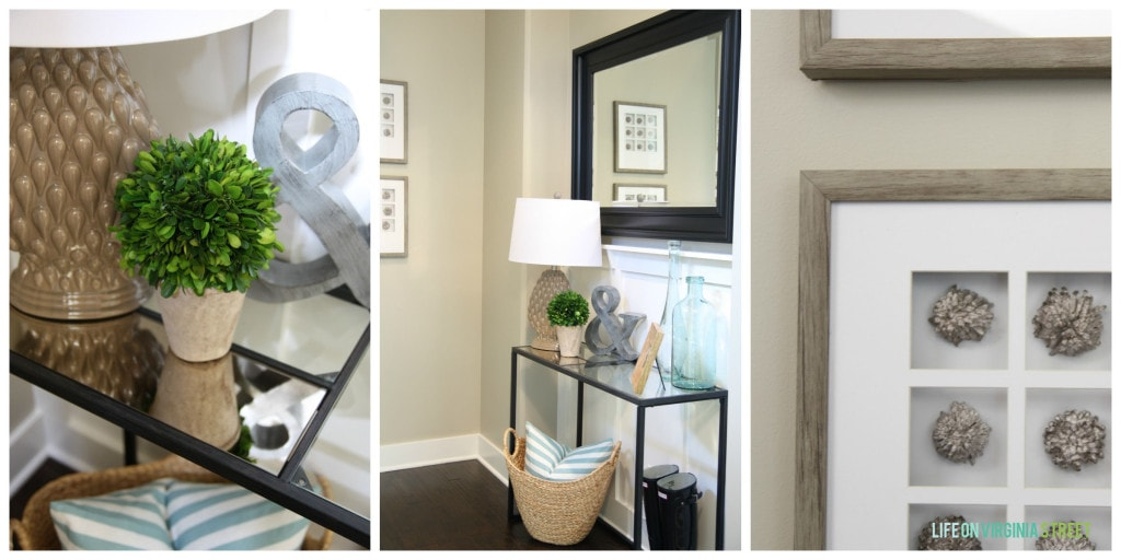 summer home tour entryway collage