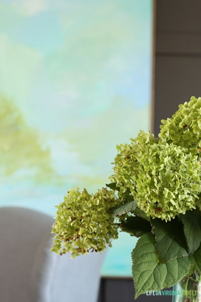 Fall Home Tour - Life On Virginia Street - Office Hydrangeas