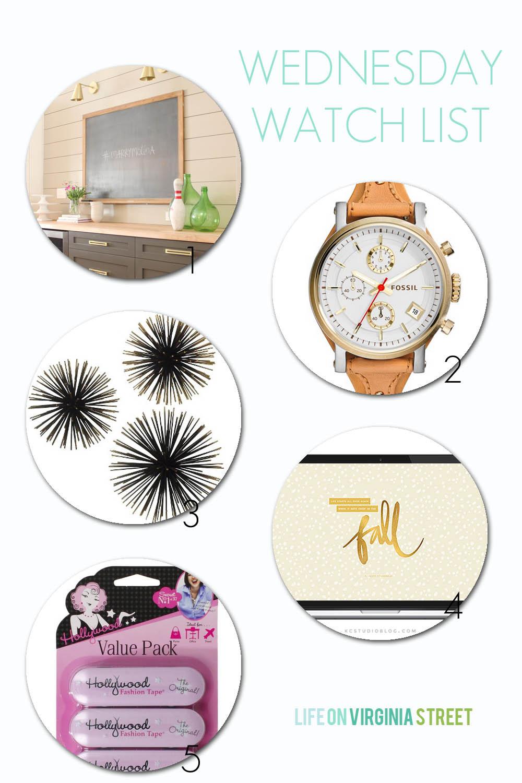 Wednesday Watch List