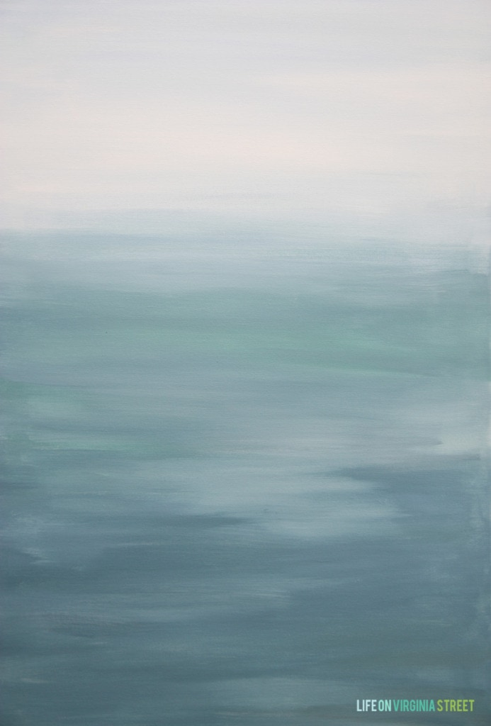 DIY Abstract Canvas Art.