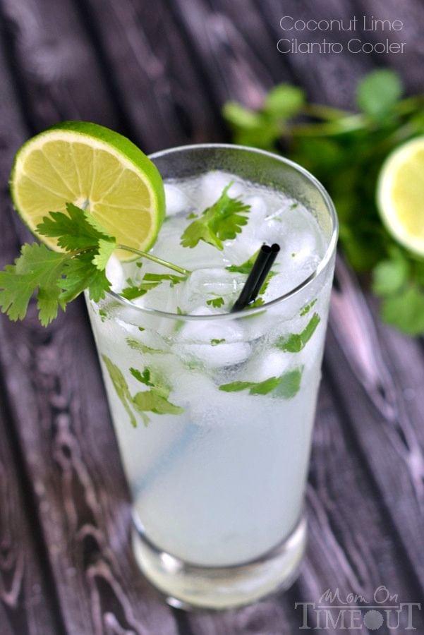 Coconut Lime Cilantro Cooler Drink Recipe
