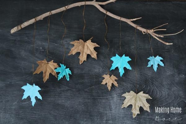 spray-painted-leaves