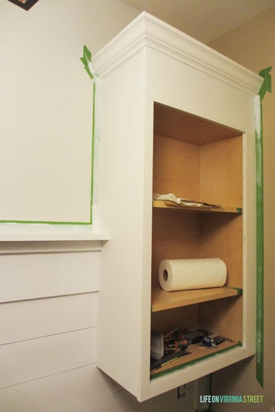 Mudroom Cabinet Extension
