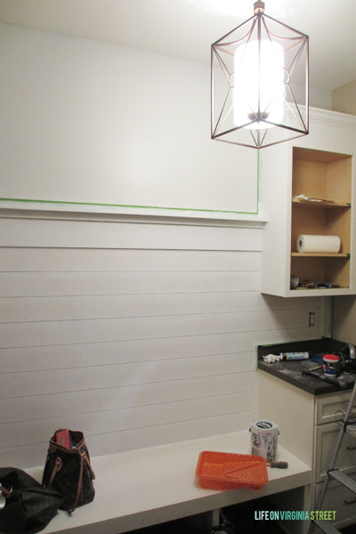 Mudroom Progress New Light