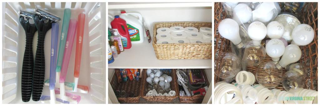 Organization Linen Closet