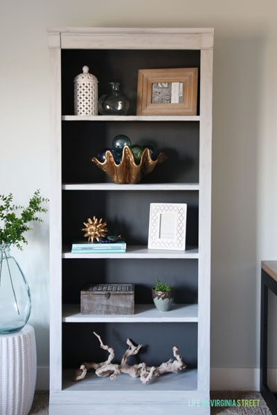 Curbside Painted Bookcase For the Craft Room