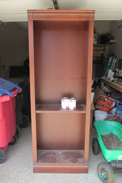 Painted Bookshelf - Before