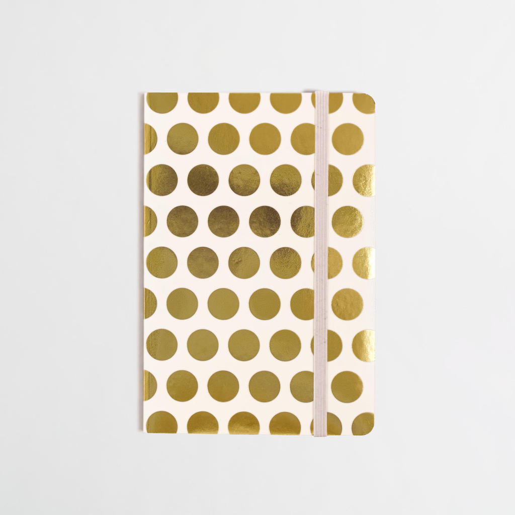 {J. Crew Gold Dot Notebook}