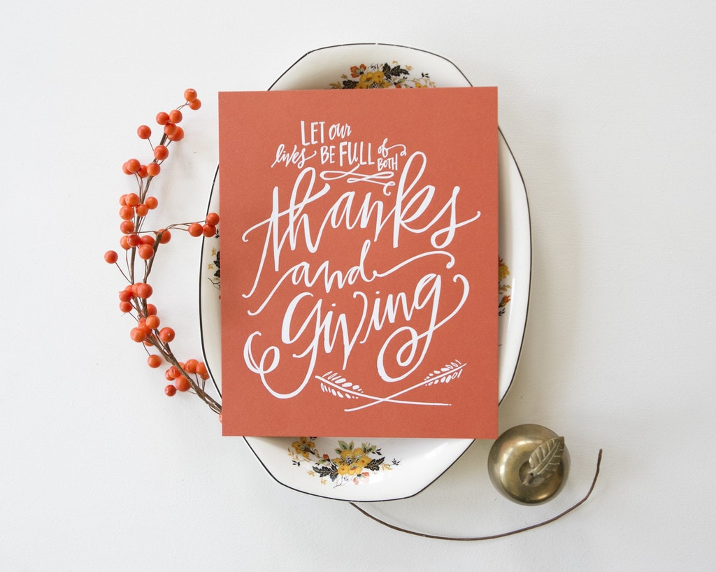 {Thanks and Giving Print}