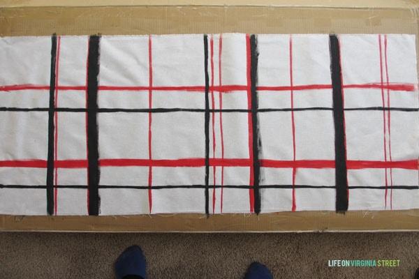 Brushstroke Pillow - Black Paint