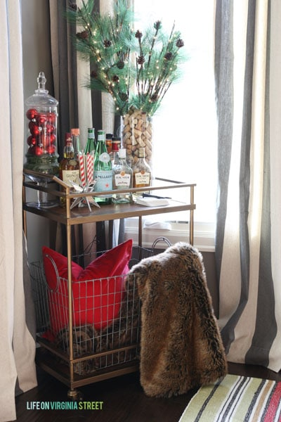 Christmas 2014 Home Tour - Life On Virginia Street - Bar Cart
