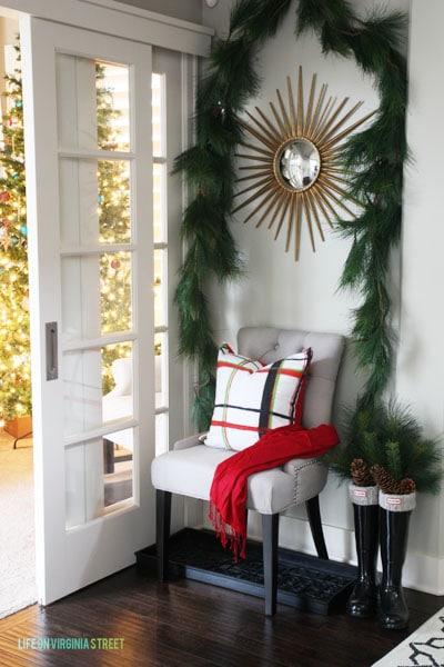 Christmas 2014 Home Tour - Life On Virginia Street - Entryway Chair