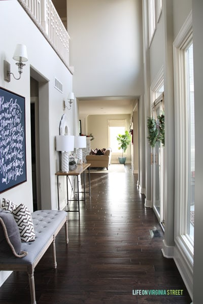 Christmas 2014 Home Tour - Life On Virginia Street - Entryway Hallway View
