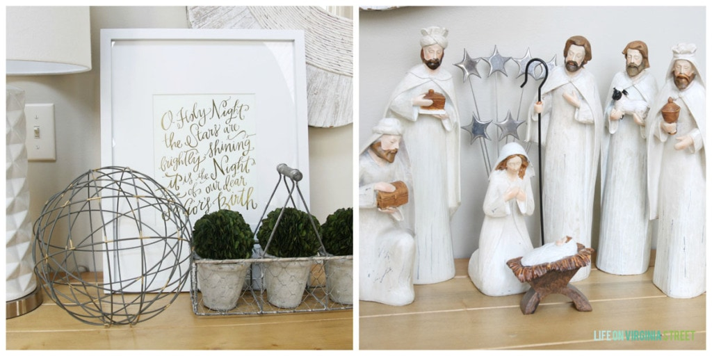 Christmas 2014 Home Tour - Life On Virginia Street - Entryway Nativity