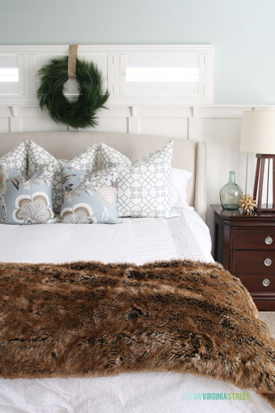 Christmas 2014 Home Tour - Life On Virginia Street - Master Bedroom Bed