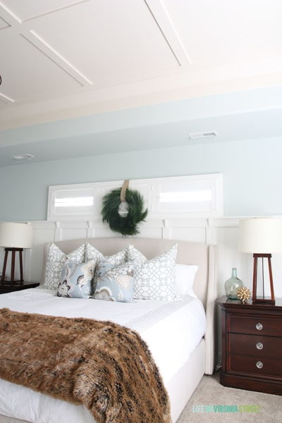 Christmas 2014 Home Tour - Life On Virginia Street - Master Bedroom with ceiling