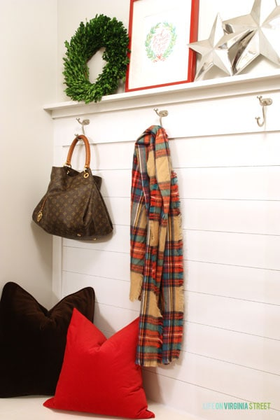Christmas 2014 Home Tour - Life On Virginia Street - Mudroom Details