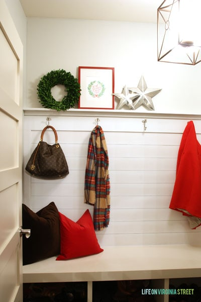 Christmas 2014 Home Tour - Life On Virginia Street - Mudroom