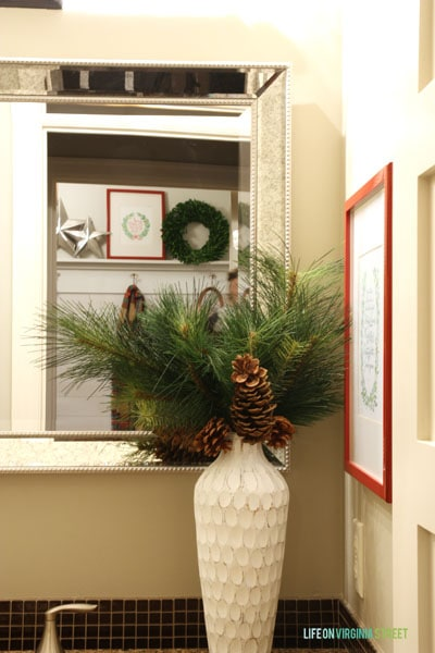 Christmas 2014 Home Tour - Life On Virginia Street - Powder Bath & Mudroom