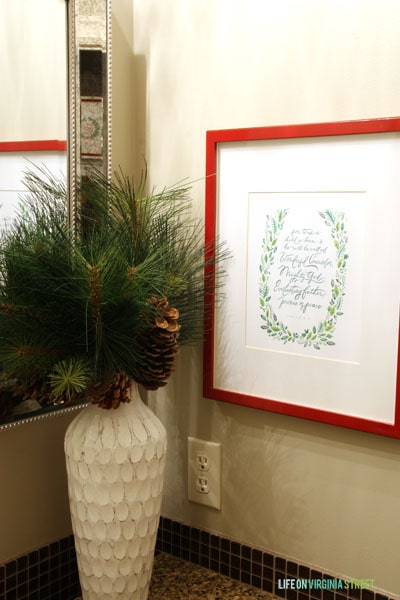 Christmas 2014 Home Tour - Life On Virginia Street - Powder Bath