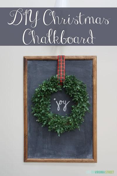 DIY Christmas Chalkboard