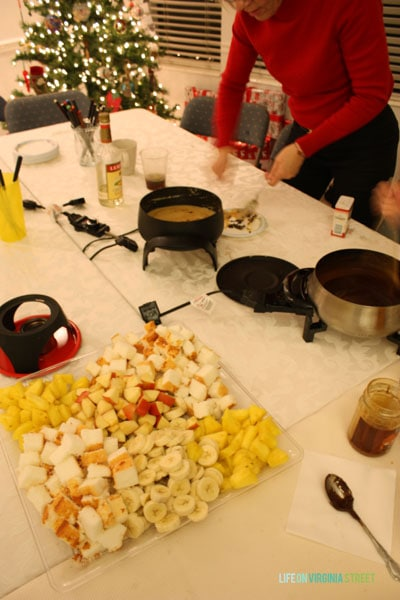Fondue Dinner - Christmas Traditions - Dessert Selections