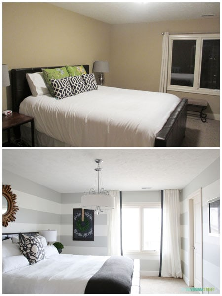 King Guest Bedroom Makeover - Before & After - Life On Virginia Street