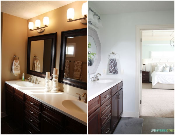 Master Bathroom Before & After - Life On Virginia Street