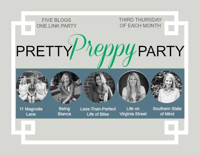 Pretty Preppy Party Blog Linky Party | 11 Magnolia Lane