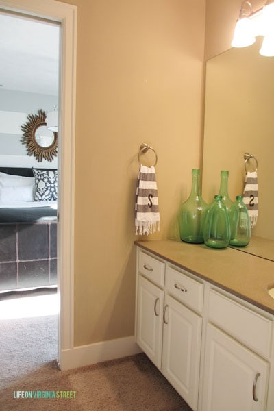 {latest on the king guest bathroom}