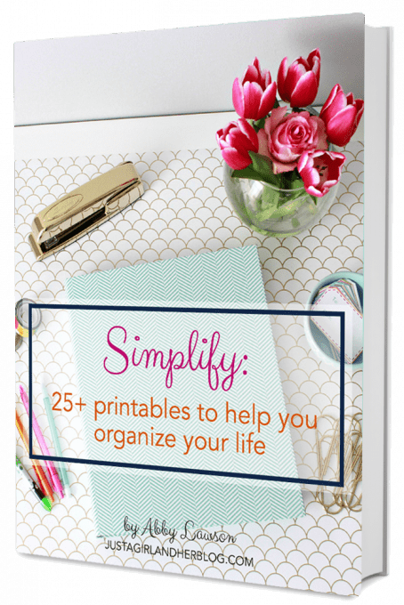 Simplify: 25+ Printables To Help You Organize Your Life – GIVEAWAY!