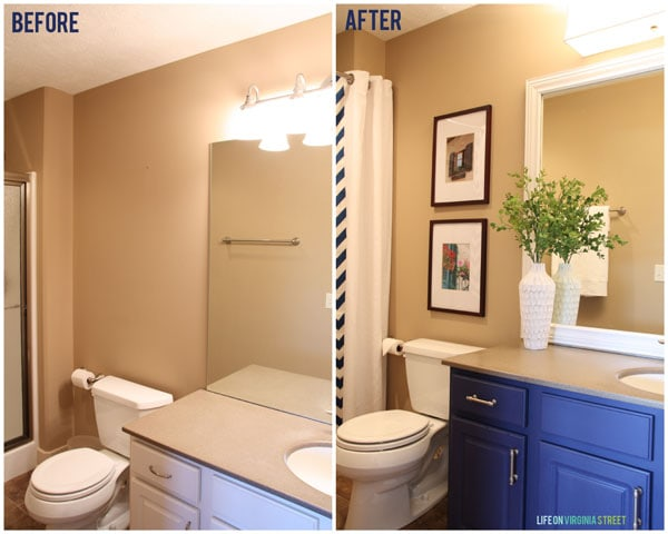 guest bath before and after 2 small