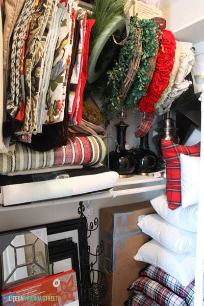 Craft Room Closet Hanging Pillow Covers