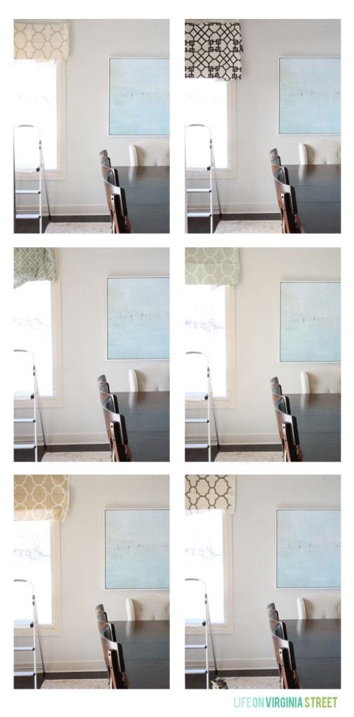 Dining Room Roman Shade Fabric Options