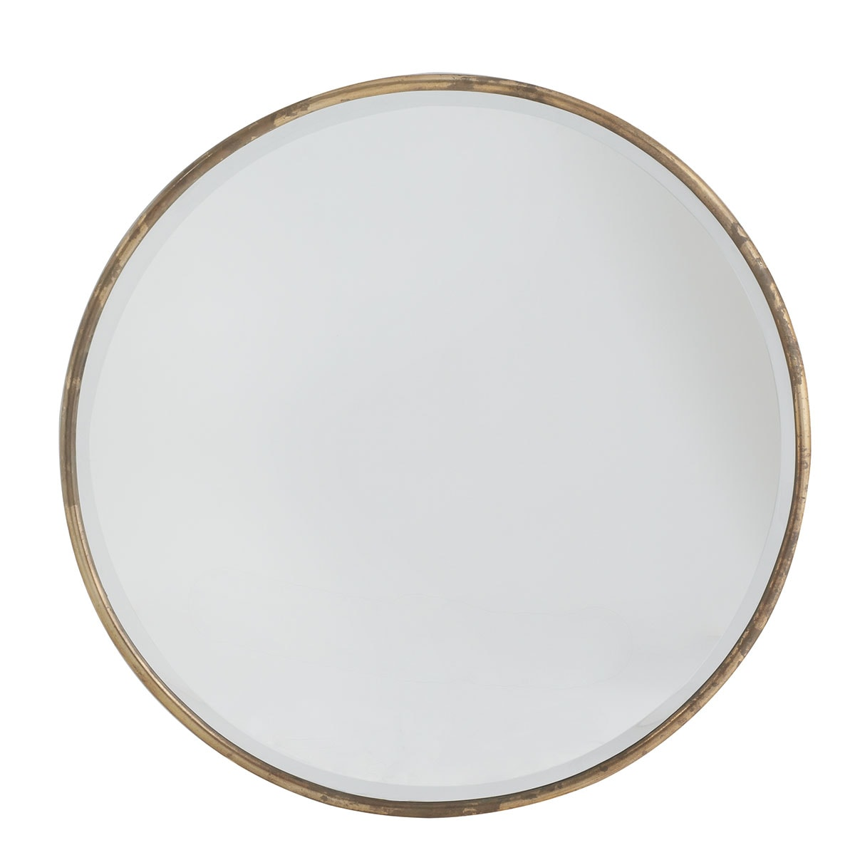 round gold toned mirror options for the dining room