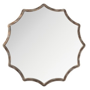 Check out the fun shape of the Kichler wall mirror.