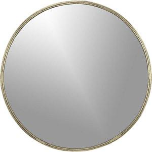 Round gold-toned mirror: Tork Brass Dripping Mirror.