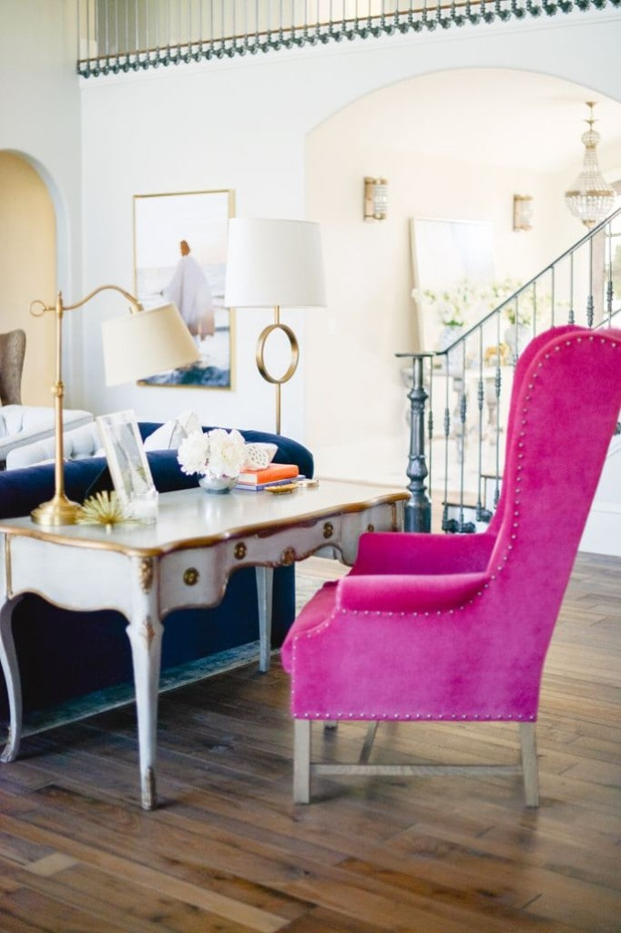 Does it get any more fun than this bright pop of pink chair?