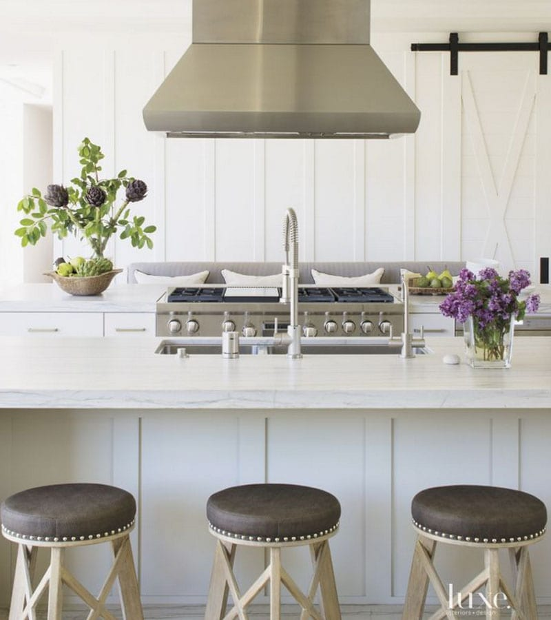 white kitchen home tour