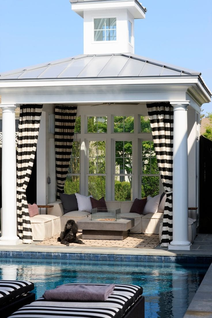 Striped outdoor curtains -  Via