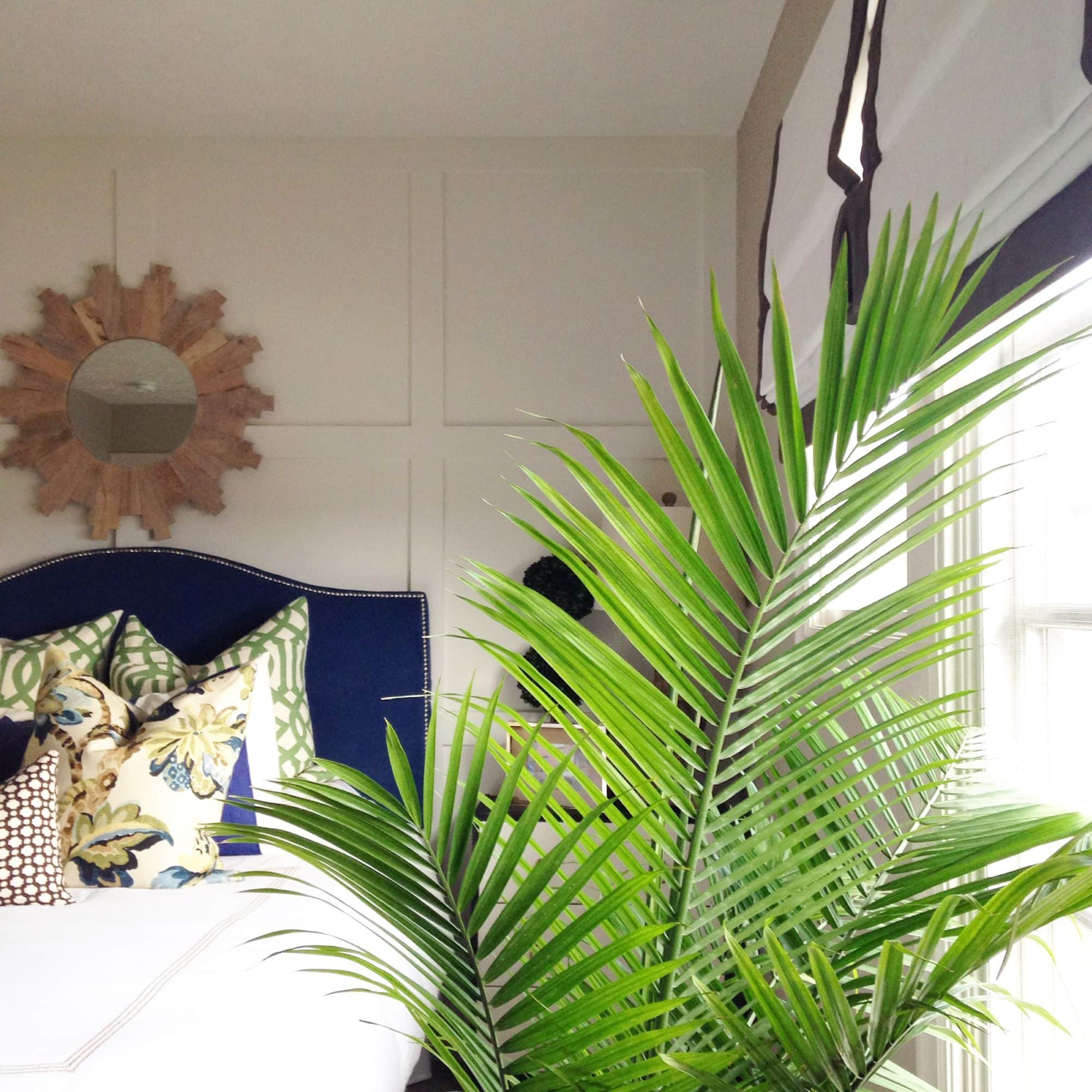 Decorating with palm fronds life on virginia street for Palm tree decorations for the home
