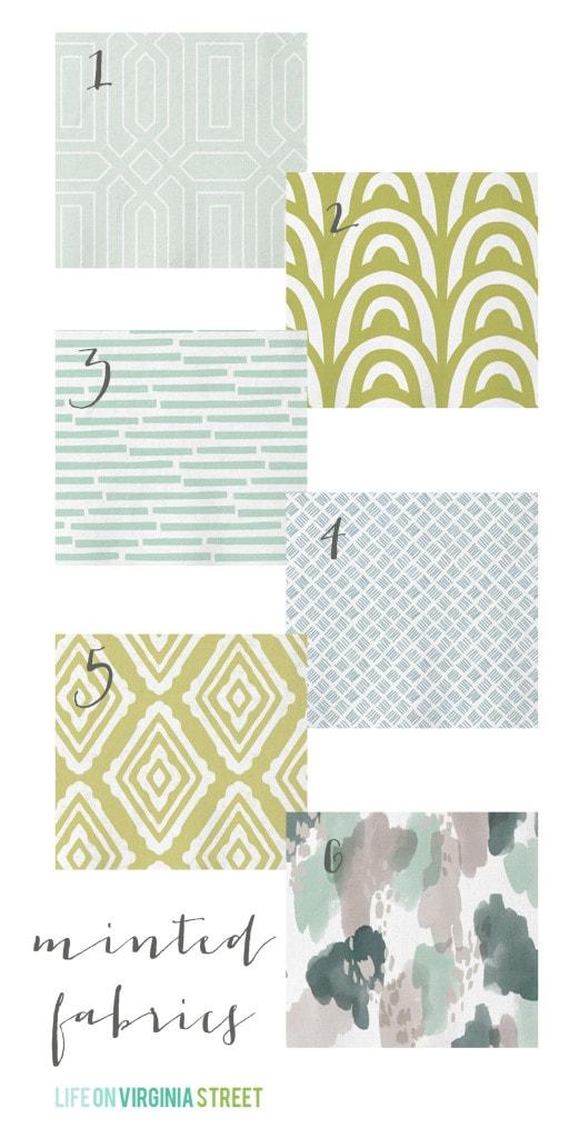 Minted Home Decor: Fabric Choices - Life On Virginia Street