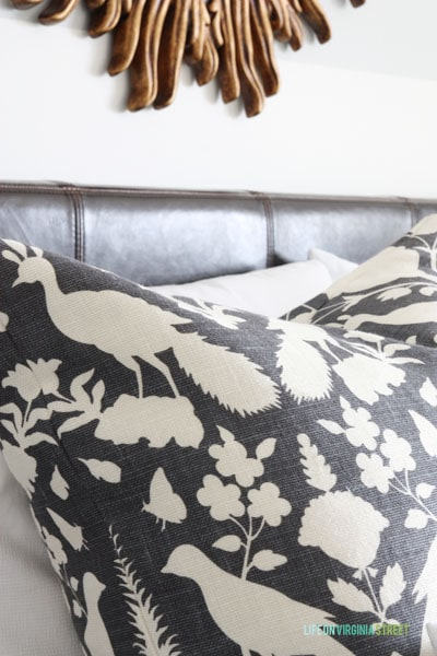Schumacher Chenonceau King Guest Bedroom Makeover
