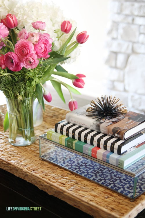 Spring Home Tour - Coffee Table Books in Living Room - Life On Virginia Street