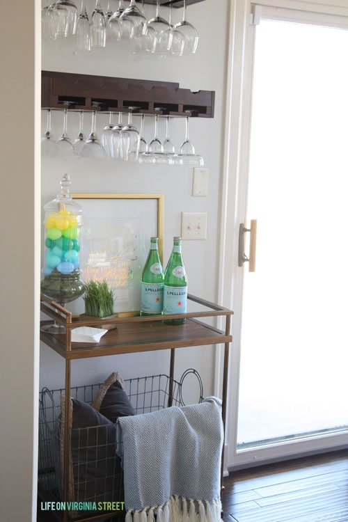 Spring Home Tour - Dining Room Bar Cart - Life On Virginia Street