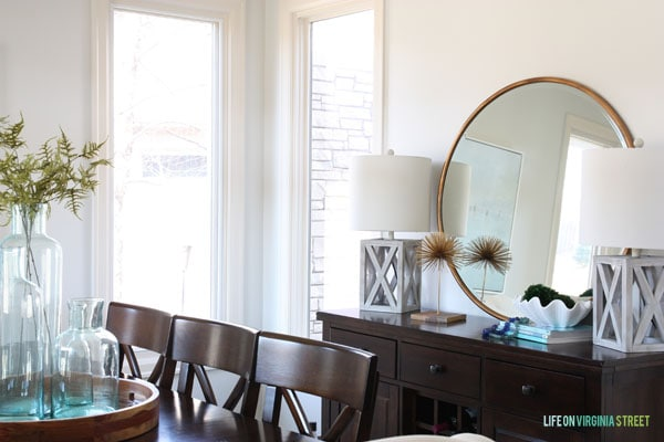 Spring Home Tour - Dining Room Buffet - Life On Virginia Street